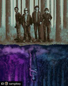 Esse poster do @samgilbey vai te deixar de cabeça para baixo!  #strangerthings #strangerthingsseason2 #eleven #netflixbrasil