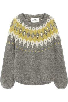 DAY Birger et Mikkelsen|Embellished mohair-blend sweater|NET-A-PORTER.COM