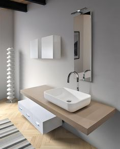 Arredobagno Made in Italy - Siena - Monteriggioni Modern Bathroom Decor, Bathroom Spa, Bathroom Wall Decor, Bathroom Furniture, Bathroom Renovations, Home Remodeling, Bidet Wc, Washroom Design, Deco Design