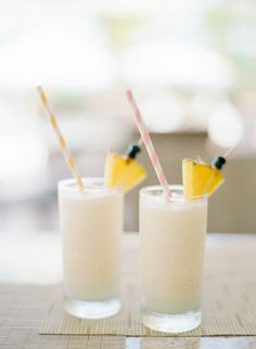 Tips for Beating the Heat at a Summer Wedding starting with these Pina Coladas
