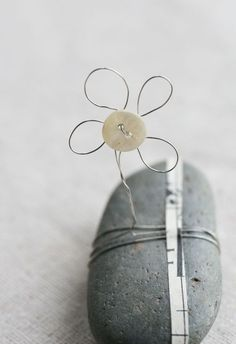 a button, some wire, a rock, a strip of paper - creativity out of the unexpected :-)