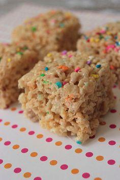 Cake batter rice crispy treats!