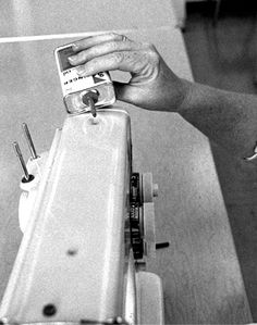 Photograph of placing one or two drops of oil in all holes designated by the instruction booklet.