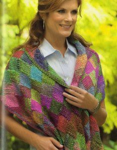 Noro Silk Garden Entrelac Shawl Kit - Crochet for Adults