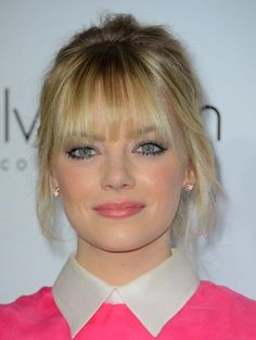 Emma Stone. Lovely makeup routine!