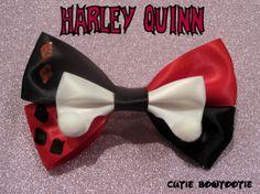 Harley Quinn hair bow DC Comics Inspired by bulldogsenior08, $9.00