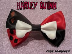 Harley Quinn hair bow DC Comics Inspired by bulldogsenior08, $9.00