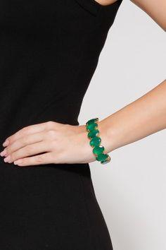 Green Onyx Large Bracelet by BOUNKIT