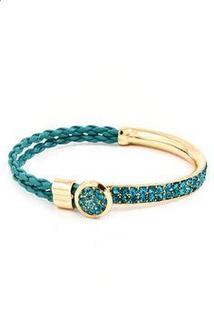 Teal Crystal Mia Bracelet | Emma Stine Jewelry Bracelets