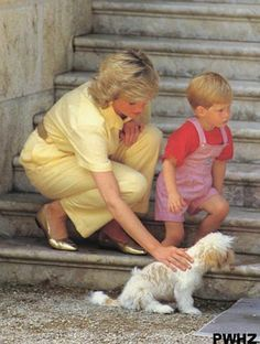 "2nd child of Prince Charles (Charles Philip Arthur George) (1948-living-2013) of Wales & Princess Diana Frances Spencer ""Di"" (1961-1997) UK. Prince Henry ""Harry"" (Henry Charles Albert David) (1984-living2013) of Wales, UK. Princess Diana with son Harry."