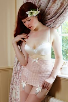 Joannas Wardrobe  > Ottilie Mink Spot Open Bottom Girdle