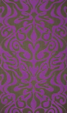 """Lee Jofa Wall Covering:  WOODSTOCK - PRPL/ONYX  Wallcovering  Black  Purple  Cole & Son  Cole & Son  100% PAPER   20.5"""" (52.1 cm) Width  United Kingdom  Exclusive  Sold by the ROLL"""