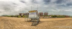 This Panoramic view of Lowestoft beach in Suffolk won highly commended in the Societies June 2014 Landscape competition