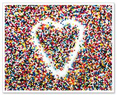 Candy Photo Sprinkles Heart Kitchen Wall Art