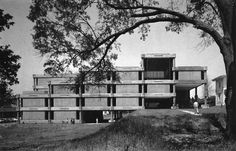 Library, Tougaloo College, Tougaloo, Mississippi, 1966-72    (Gunnar Birkerts)