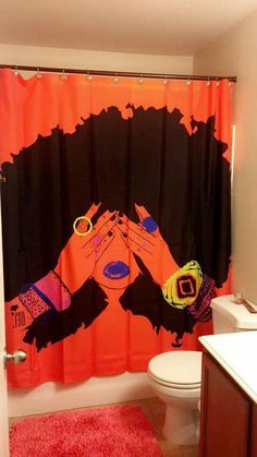 Pardon my Fro Shower Curtain. Purchase@ www.pardonmyfro.com