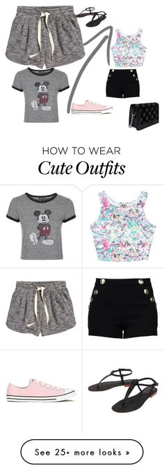 """Cute Outfit"" by queenalisa on Polyvore featuring Civil, Boutique Moschino, H&M, Topshop, Converse, Cocobelle and Zara"