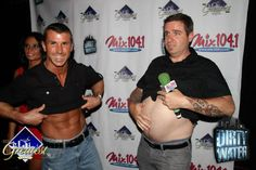 Mix 104.1's Salt showing off his hot bod