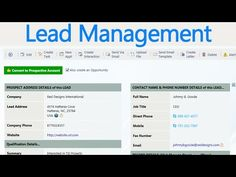 ▶ Lead Management Demo - SharePoint CRM 2014 - YouTube
