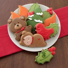 Christmas Woodland Baby   Cookie Connection