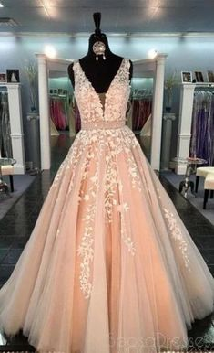 Lace Tulle A line Evening Prom Dresses, Sexy Deep V Neckline Party Prom Dresses, 17053 #prom #promdresses #promdresseslong #promdressescheap #Dressesformal #fancydresses #promdresses2020 #eveningdresses #prom2020 #partydreses Modest Prom Gowns, Straps Prom Dresses, Prom Dresses For Teens, V Neck Prom Dresses, A Line Prom Dresses, Ball Gowns Prom, Best Wedding Dresses, Cheap Prom Dresses, Prom Party Dresses