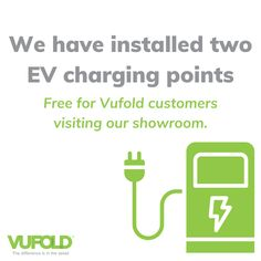 We have recently installed two 22kw EV charging points on site - free for Vufold customers visiting our showroom to use! 😀 #Vufold #Showroom Exhibitions, Showroom, Announcement, Free, Fashion Showroom