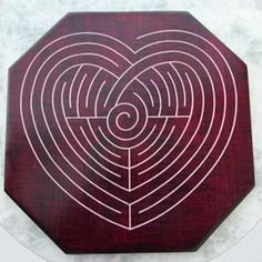 Healing Heart #Labyrinth designed by Sandi Mino with a message from the heart written on the back by Dayle Marshall.