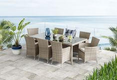Barbosa 9 Piece Outdoor Dining Setting   Amart Furniture