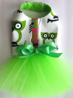 Dog Tutu Dress | Retro Owl Tutu Harness Dog Dress by KOCouture on Etsy