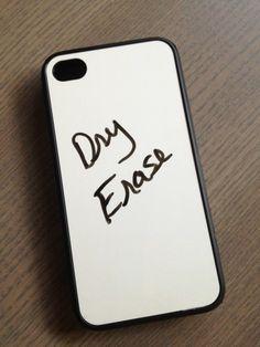 DRY ERASE BOARD iPHONE 4 4S 5 5S 5C CASE SAMSUNG GALAXY S3 S4 CASE SILICONE