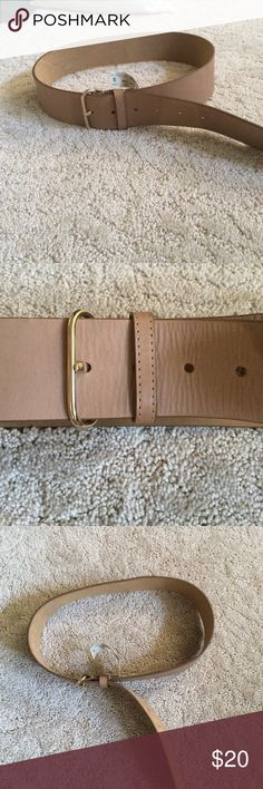 Tan Leather Belt Ann Taylor tan leather belt, worn twice! On the smaller side of small Ann Taylor Accessories Belts