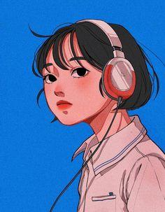 Pretty Art, Cute Art, Aesthetic Art, Aesthetic Anime, Vintage Sticker, Character Illustration, Illustration Art, Arte Sketchbook, Cartoon Art Styles