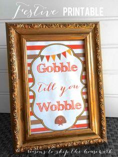 Gobble till you wobble printable.