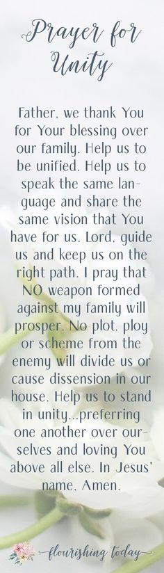 Do you pray specifically and strategically for your family? There is power when we get intentional with our prayers. Here are 5 prayers for my family that have helped us to flourish. by gilda Prayer For My Family, Praying For Your Family, Prayer For Daughter, Prayer Quotes, Bible Quotes, Bible Verses, Prayer Scriptures, Bible Prayers, Scripture Art