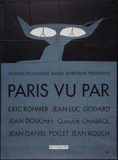 La Grande Illusion: Vintage French Movie Posters - 50 Watts  Six in Paris, 1965 artist: Folon
