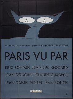 La Grande Illusion: Vintage French Movie Posters - 50 Watts  Six in Paris, 1965 artist: Folon