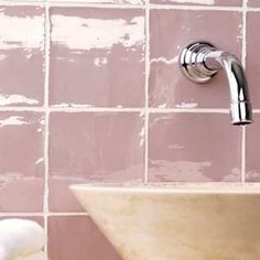 soap dispenser, tooth brush holder, cotton towels plus roll top bath and pink bathroom tiles. Mauve Bathroom, Glamorous Bathroom, Beautiful Bathrooms, Classic Bathroom, Modern Bathroom, Small Bathroom, Bathroom Ideas, Vintage Bathrooms, Bathroom Designs