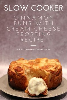 Mar 8, 2020 - RECIPE: Slow Cooker Cinnamon Buns with Cream Cheese Frosting Sugar Frosting, Cream Cheese Frosting, Cinnamon Bun Recipe, Cinnamon Rolls, Cream Cheese Recipes, Tasty, Yummy Food, Pancakes And Waffles, Kid Friendly Meals