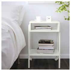 IKEA   SETSKOG, Nightstand, White , Easy To Move Since The Bedside Table  Has Casters.Simply Roll The Nightstand Out Of The Way When You Want To  Transform ...