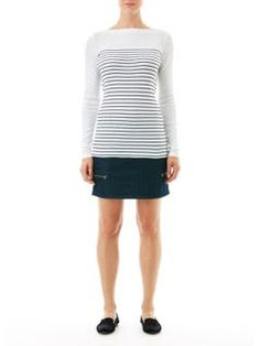 Mix Apparel - Collection - Stripe Boat Neck Tee