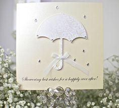 handmade umbrella card | DESIGN BY OCCASION: Bridal & Wedding Greeting Card Giveaway!