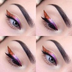 Foil ombre!!! This is genius. | 23 Colourful Eyeliner Looks That Will Make Every Makeup Lover Drool