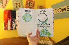 wreck this journal. This drawing is cool.