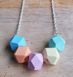 Slanelle Style: DIY: bijoux géométriques