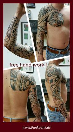 Eine weitere fertige polynesische Arbeit. (free hand work !)