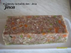 Recept Huspenina, autor: Jirca. Pork Recipes, Cooking Recipes, Meatloaf, Banana Bread, Sausage, Good Food, Appetizers, Sweets, Homemade