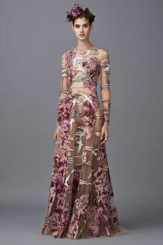 Valentino - Long floral dress - Belle Epoque