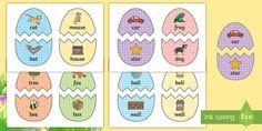 rhyming cards - Word Rhyme Primary Resources, words, rhymes