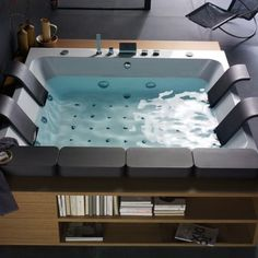 This Modern And Luxurious Thais Art Whirlpool Bathtub By Blubleu Will  Thrill Your Senses. This Bathtub Was Designed For Two, The Large Bathtub  Flaunts The ...