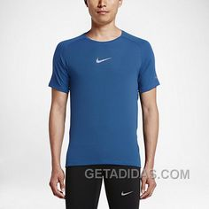 Outlet Nike Damen Dry Pullover Training Binary BlauSchwarz